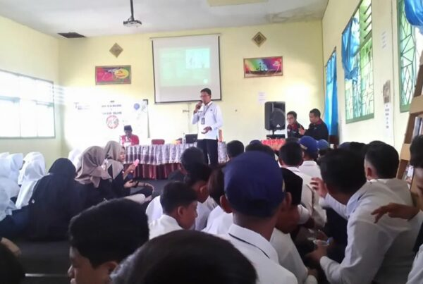 Sosialisasi P4GN di MTs Miftahul Ulum Kanigoro Pagelaran