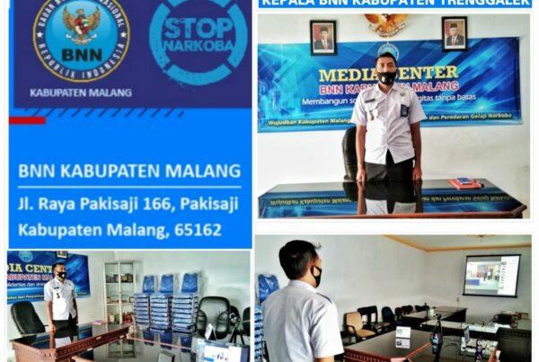 Pelantikan Dan Pengambilan Sumpah Jabatan Kepala BNN Kabupaten Trenggalek Secara Virtual