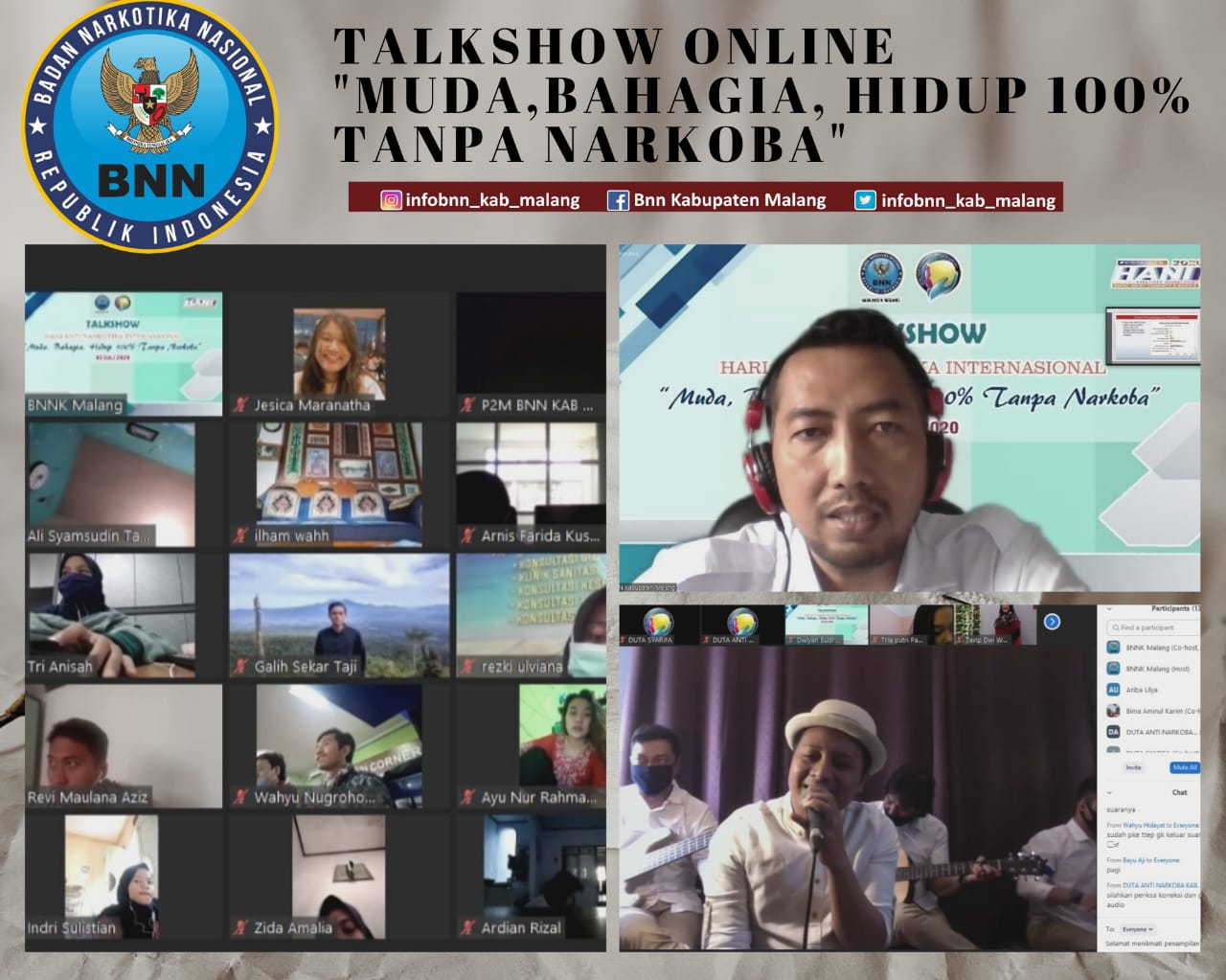 Talkshow Muda, Bahagia, Hidup 100% Tanpa Narkoba