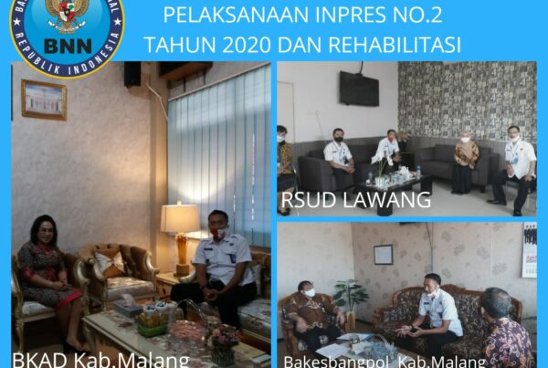 Koordinasi Bakesbangpol, BKAD Kabupaten Malang, dan RSUD Lawang terkait pelaksanaan Inpres no.2 Tahun 2020