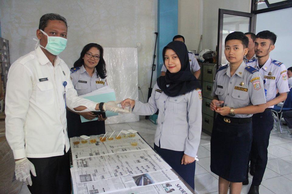 Tes Urine Bagi Pegawai Dinas Perhubungan Kabupaten Malang