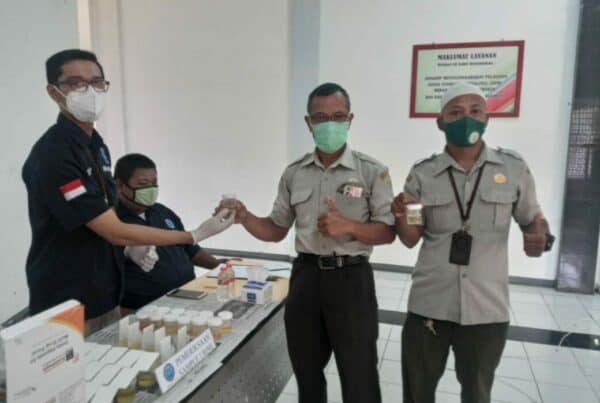 Diseminasi Informasi P4GN dan Screning Tes Urine di Lingkungan Polbangtan